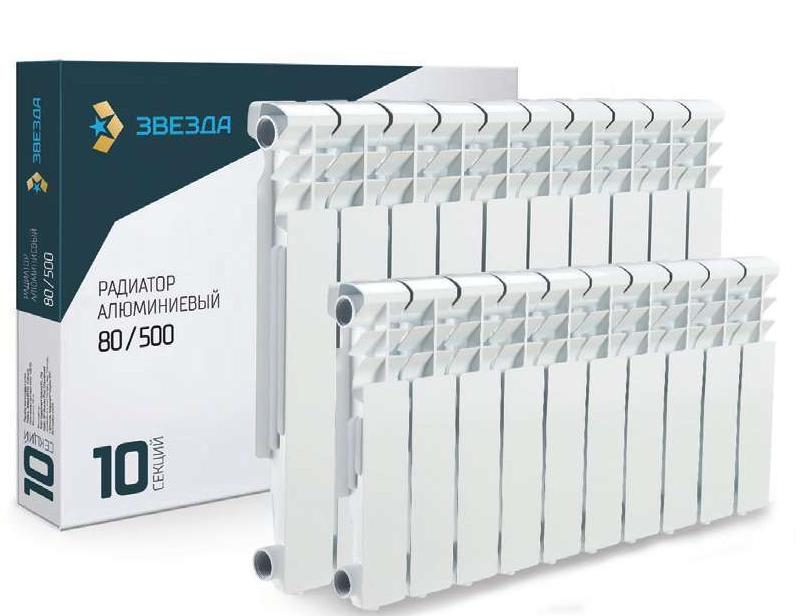 Радиатор алюминиевый  Звезда 500/80 код 00-1132