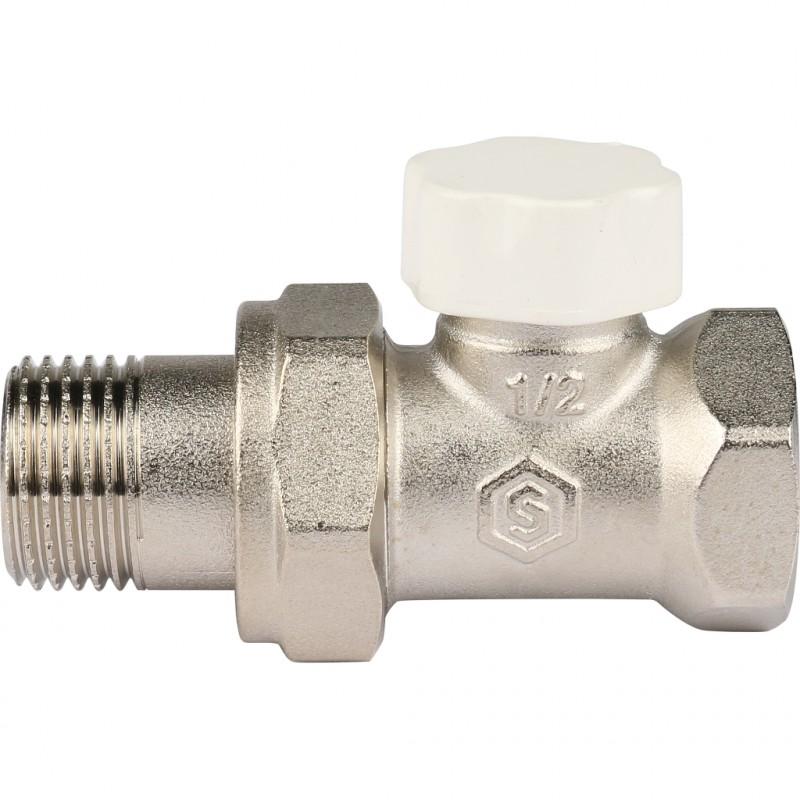 Клапан запорно-балансировочный, прямой 1/2 STOUT код 00-1050